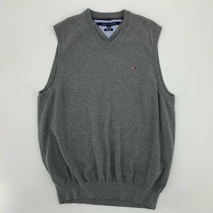 Tommy Hilfiger Men's V-Neck Sweater Vest Gray XL